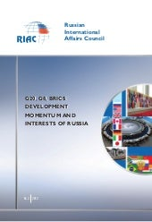 G20, G8, BRICS development momentum...