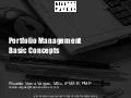 Portfolio Management – Basic Concepts