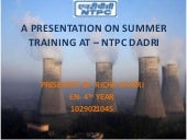 thermal power plant at NTPC