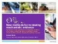 New methods for reviewing mechanistic evidence