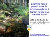 John Richardson, UBC - Learning How...
