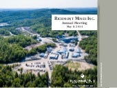 Richmont Mines, Inc. video