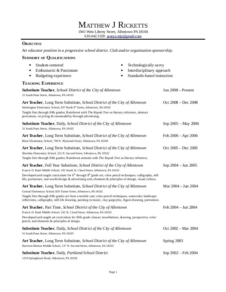 Long Term Substitute Teacher Resume Plaza Super Jet Page Not Found