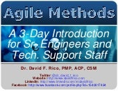 A 3-Day Introduction for Sr. Engineers and Tech. Support Staff