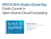 RICON 2014 - Build a Cloud Day - Crash Course Open Source Cloud Computing