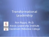 Transformational Leadership, by Ron...