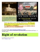 Right of REVOLUTION and POLITICAL C...