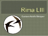 Rima liii de bécquer power point