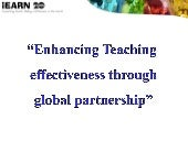 Enhancing Teacher Effectiveness thr...