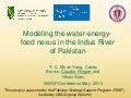 Modeling the water-energy-food nexus in the Indus River of Pakistan