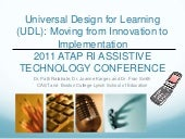 UDL: Moving from Innovation to Impl...