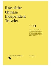 Rise of the chinese traveler