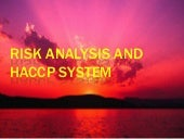 Risk analysis and HACCP System