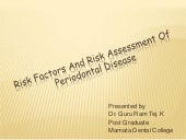 Risk factors and risk assessment of...