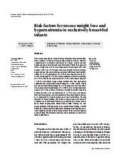 Risk Factors For Excess Weight Loss...