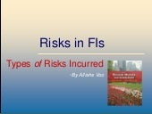 Risks in financial institutions