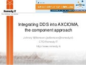 Integrating DDS into AXCIOMA, the component approach