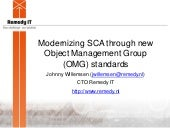 Modernizing SCA through new Object Management Group (OMG) standards