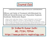 Rituximab CJASN Journal Club