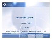 Riverside Economic Report June 2010