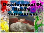 Development Of Rizal's Nationalism