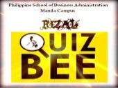 Rizal quiz bee easy