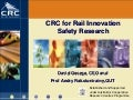 CRC for Rail Innovation Safety Research