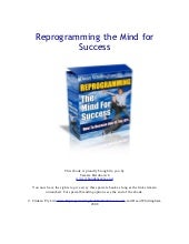 Programming the Mind for Success