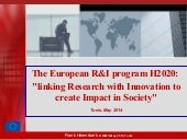 "The European R&I program H2020:  ""l..."