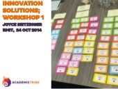 RMIT Innovation Solutions Workshop 1