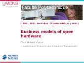 Business models of open hardware