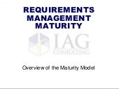 Requirements Maturity Model Overview