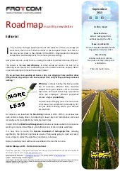 Roadmap monthly newsletter - Septem...