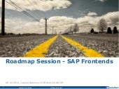 Roadmap Session – SAP Frontends (Level 2)