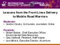 Lessons from the Front Lines Delivery to Mobile Road Warriors