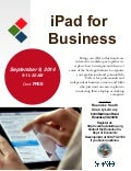 Roanoke County iPad for Business Workshop, September 9, 2014
