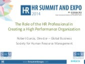 The Role of the HR Professional in Creating a High-Performance Organisation