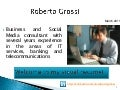 Roberto Grossi Visual Resume March 2011