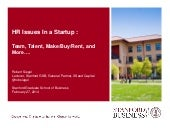 Robert Siegel: HR Issues in a Startup