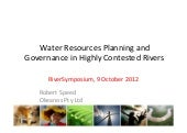 Water Resources Planning and Govern...