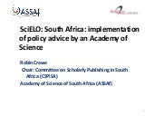 SciELO: South Africa: implementati...