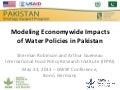 Modeling Economy-wide impacts of water policies in pakistan