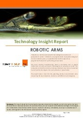 Robotic Arms Tech Report