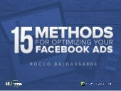 15 Methods for Optimizing Your Facebook Ads