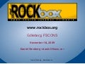 Rockbox at FSCONS 2009