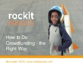 How to Do Crowdfunding Right - Lessons Learned and Case Studies