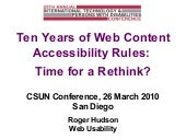 10 Years of Web Content Accessibili...