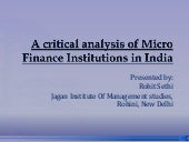 micro finance institution analysis ...