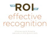 The ROI of Effective Recognition