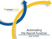 Benefits of Payroll Software Automation using EmpXtrack